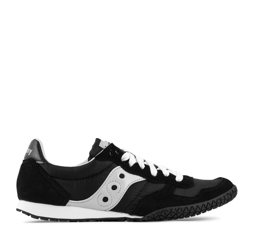 Saucony Bullet W Sneaker in Black and Silver - Saucony - On The EDGE