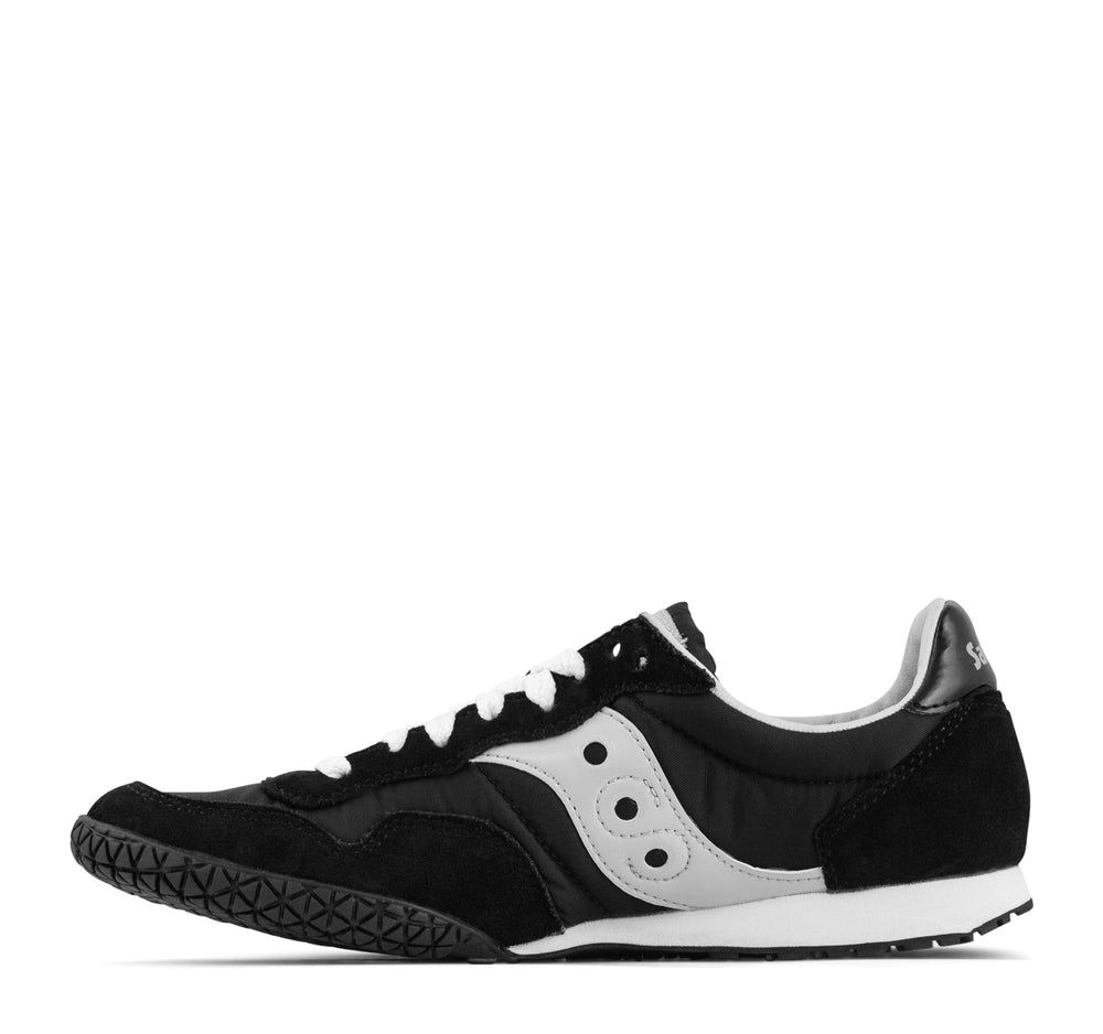 Saucony Bullet Sneaker in Black and Silver - Saucony - On The EDGE
