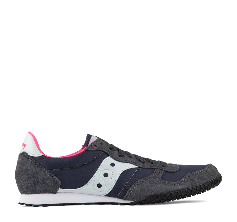 Saucony Bullet Women's Sneaker in Charcoal and Pink