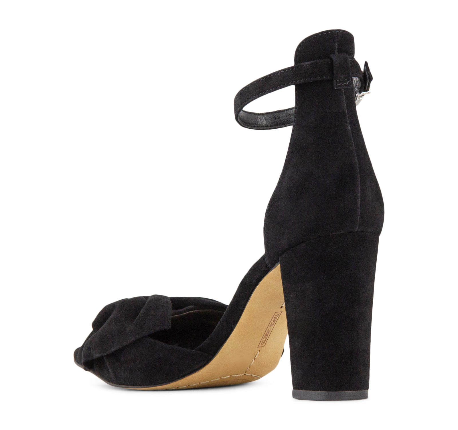 debf6346fffa Vince Camuto Carrelen Bow Women s Sandal in Black – On The EDGE