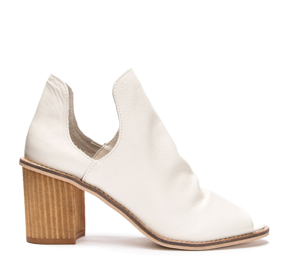 Chinese Laundry Carlita Bootie in Ecru Leather - Chinese Laundry - On The EDGE