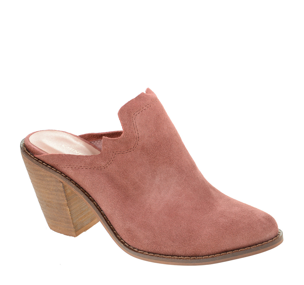 Chinese Laundry Songstress Mule in Rhubarb Suede - Chinese Laundry - On The EDGE