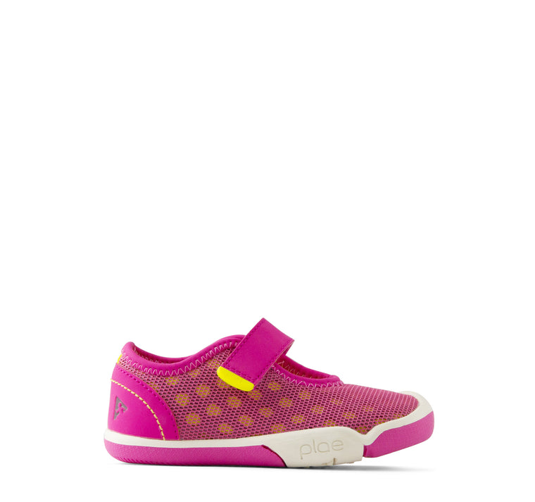 Plae Chloe Girls' Sneaker in Electric Fuchsia