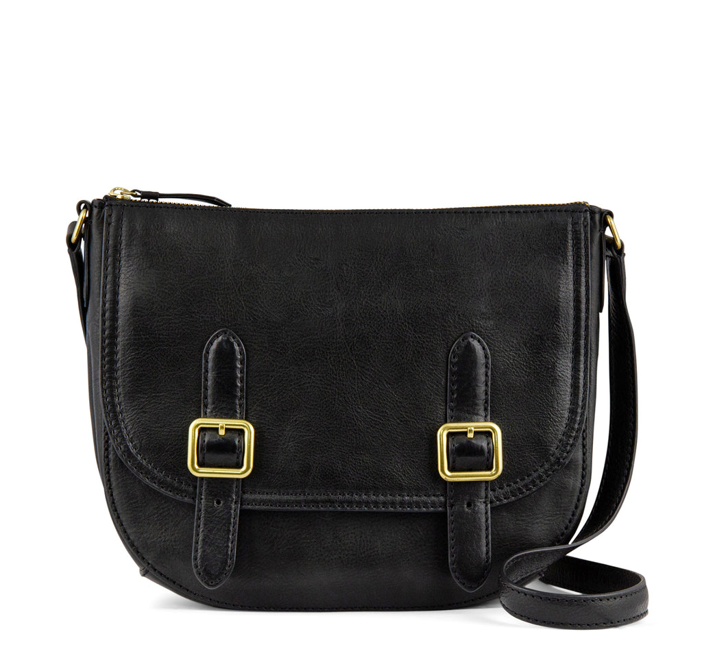 Frye Claude Crossbody Handbag in Black - The Frye Company - On The EDGE