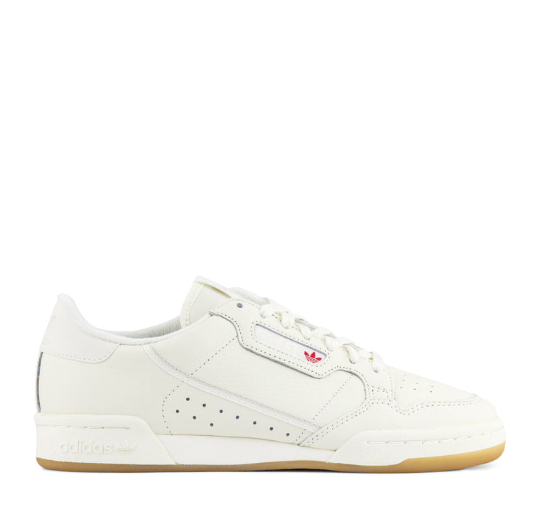 Adidas Continental 80 Men's Sneaker in Off White and Gum