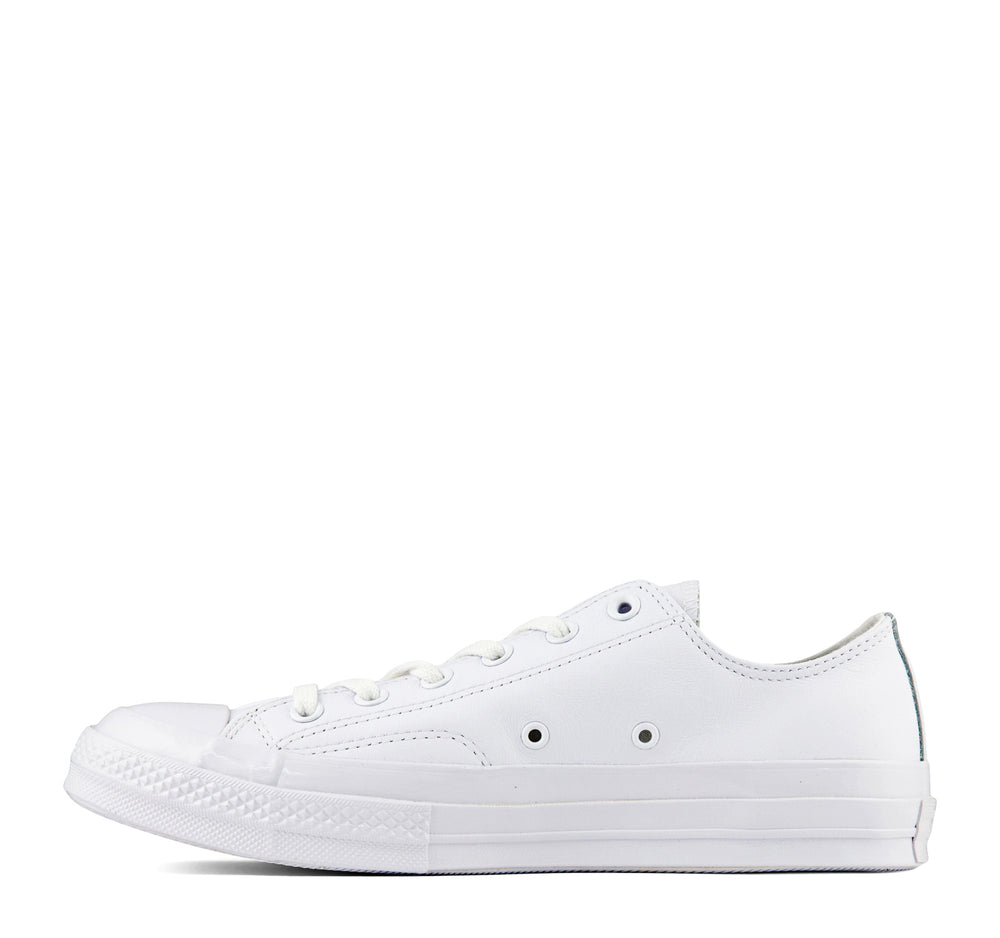 Converse Chuck Taylor All Star Leather Ox Sneaker in All White - Converse - On The EDGE
