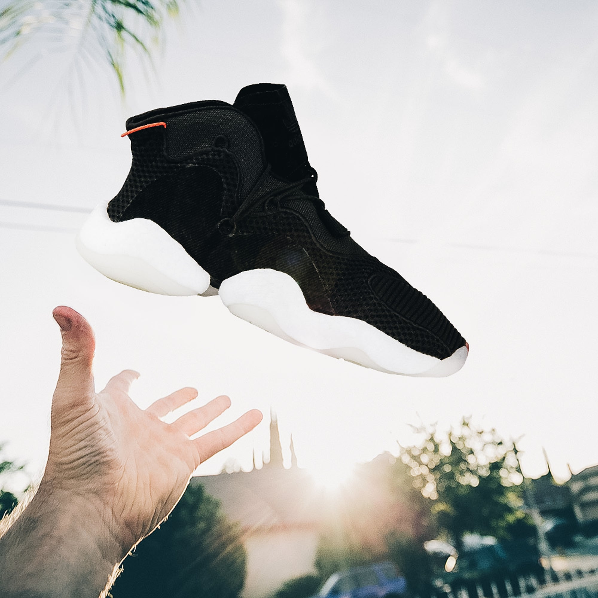 buy online 5538d 3c90e ... Adidas Crazy BYW B37480 Mens Sneaker in Black and White - Adidas - On  The EDGE