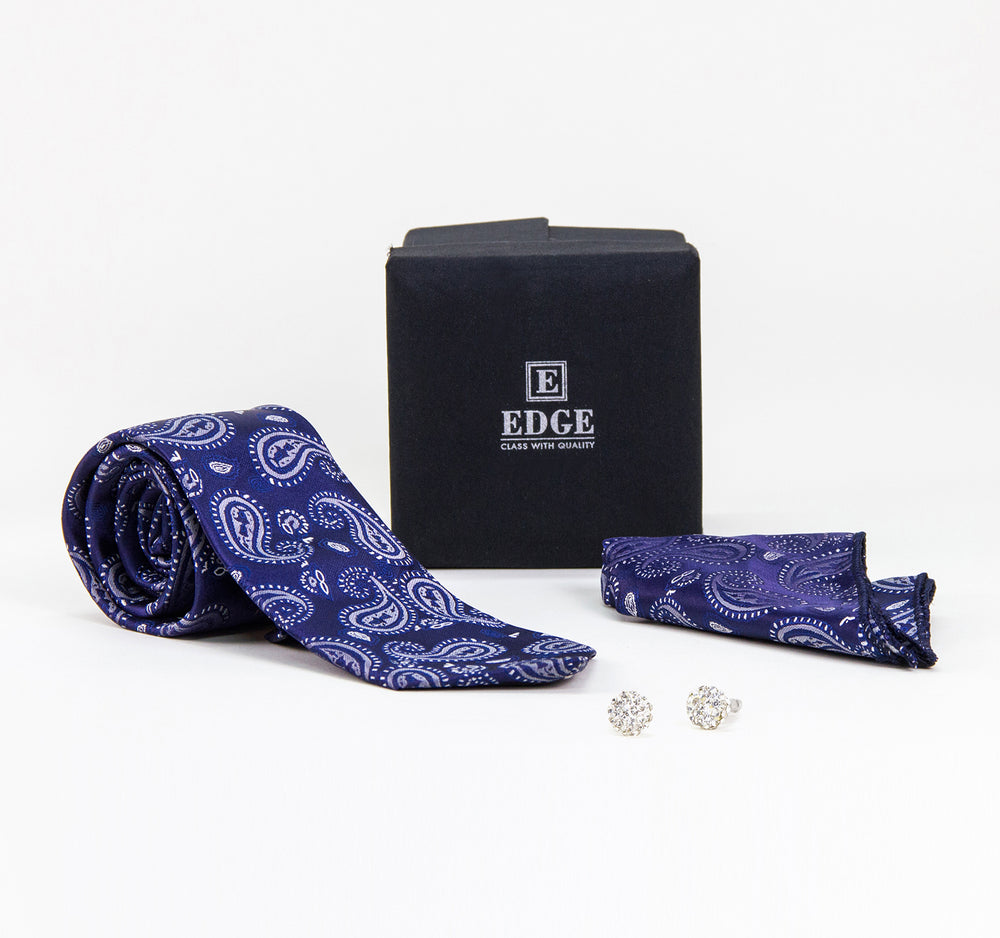 EDGE Three-Piece Tie, Handkerchief and Cufflinks Set - EDGE - On The EDGE