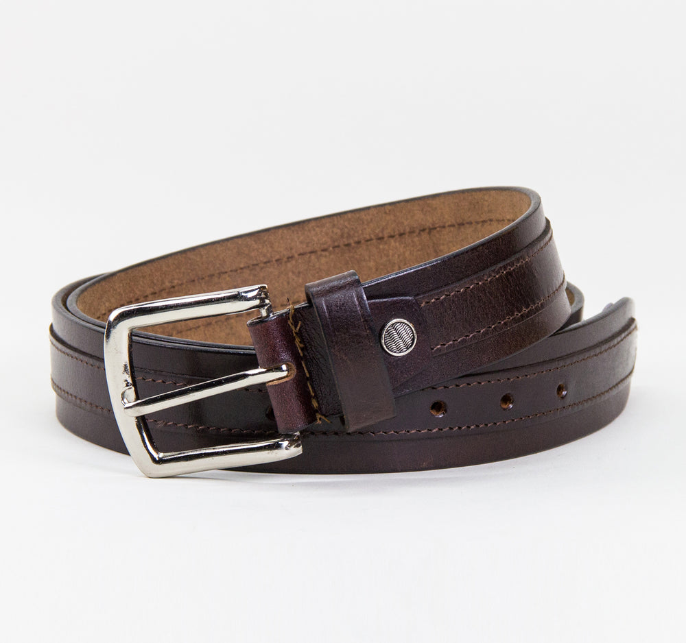 EDGE Bailata Belt in Mahogany - EDGE - On The EDGE