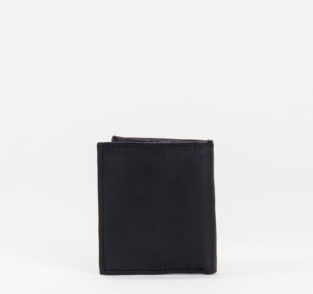 EDGE Minimalist Bi-Fold Leather Wallet in Black - EDGE - On The EDGE