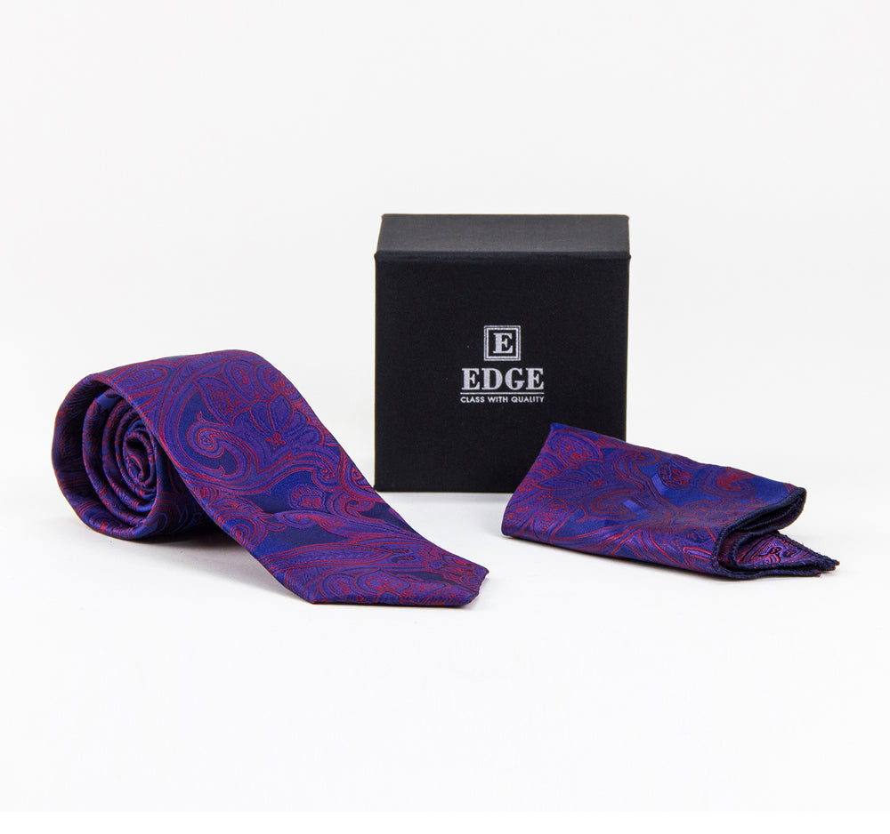 EDGE Two-Piece Tie and Handkerchief Set - EDGE - On The EDGE