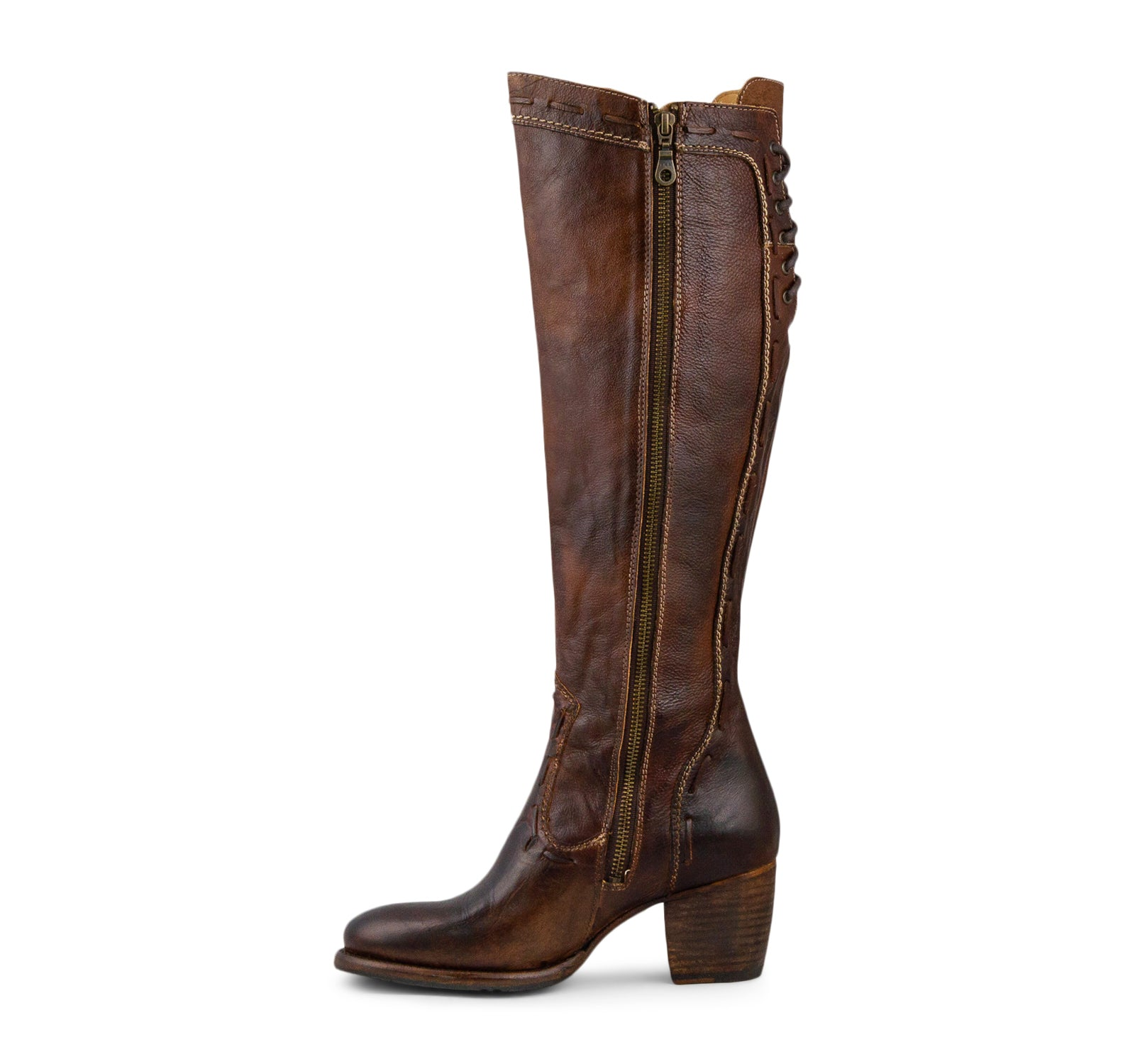 Bed Stu Fortune Women S Tall Boot In Teak Rustic On The Edge