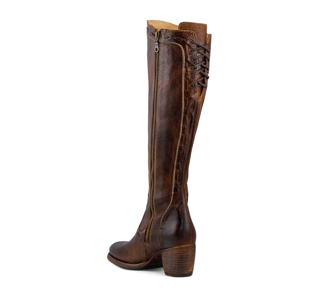 Bed Stu Fortune Women's Tall Boot in Teak Rustic - Bed Stu - On The EDGE