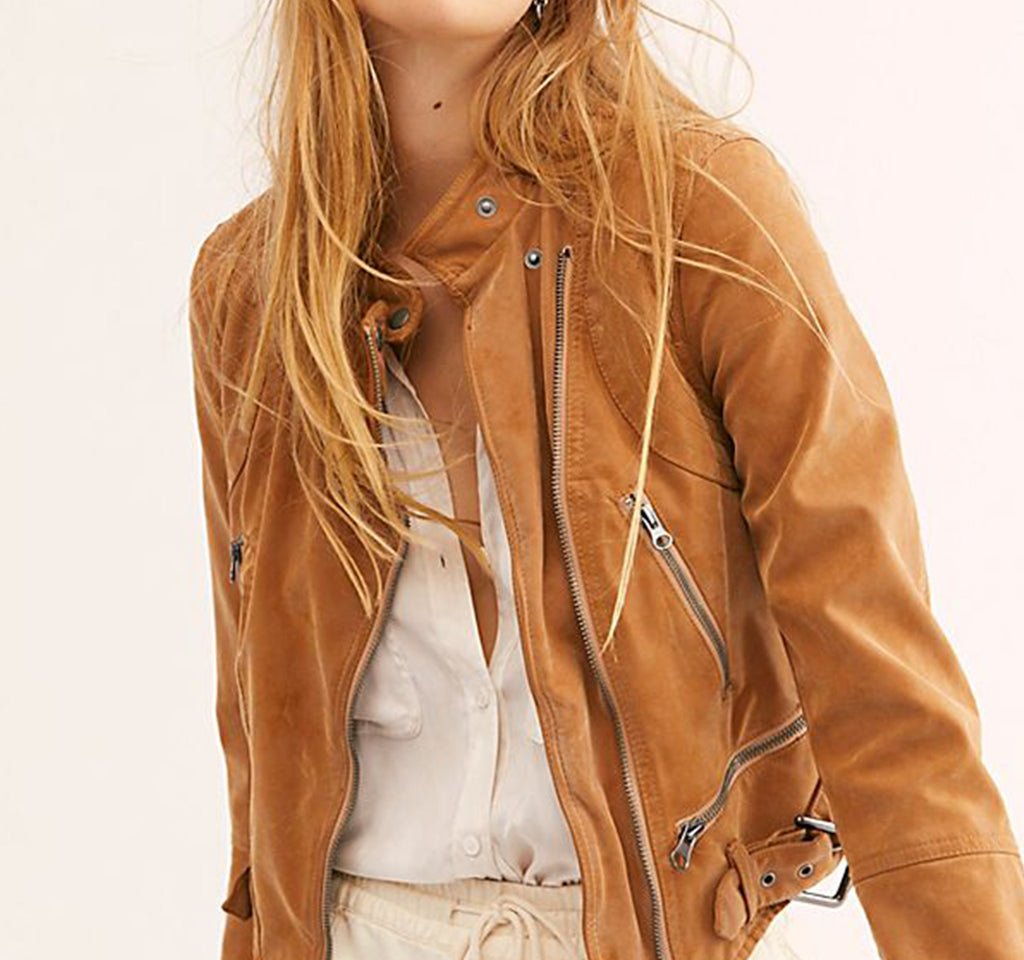 Free People We The Free Fenix Vegan Suede Jacket - Free People - On The EDGE