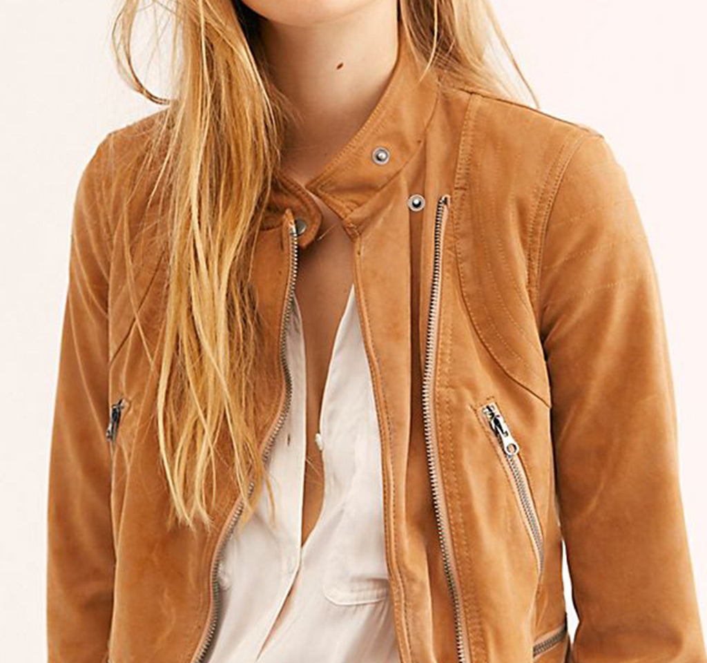 Free People We The Free Fenix Jacket in Camel - Free People - On The EDGE