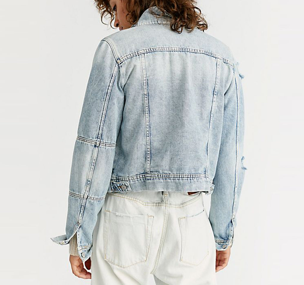 Free People Rumors Denim Jacket - Free People - On The EDGE