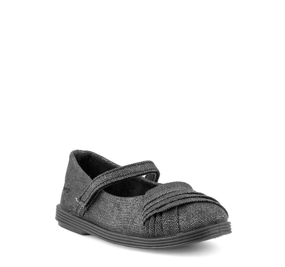 Blowfish Gimma Mary Jane Flat in Black Metallic - Blowfish Malibu - On The EDGE