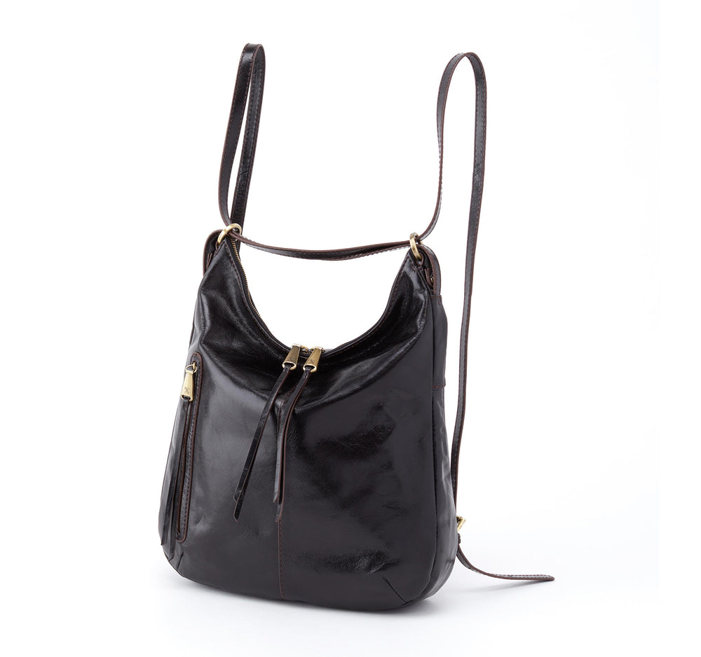 Hobo Merrin Convertible Shoulder Backpack Bag in Black - Hobo - On The EDGE