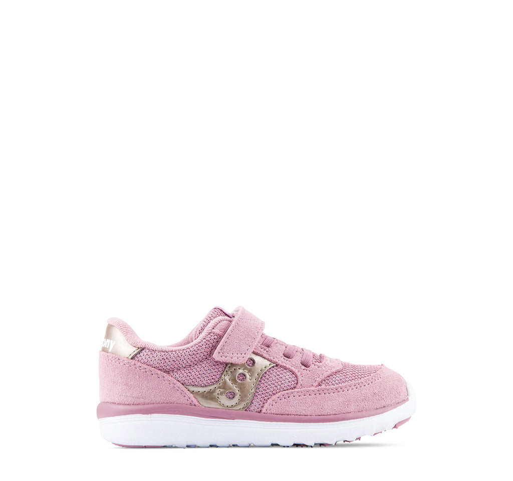 Saucony Baby Jazz Lite Sneaker in Blush Metallic - Saucony - On The EDGE