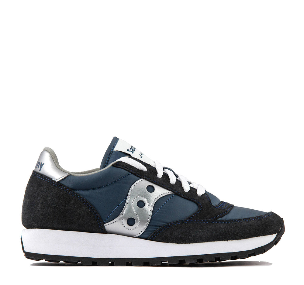 Saucony Jazz Original W Sneaker in Navy and Silver - Saucony - On The EDGE