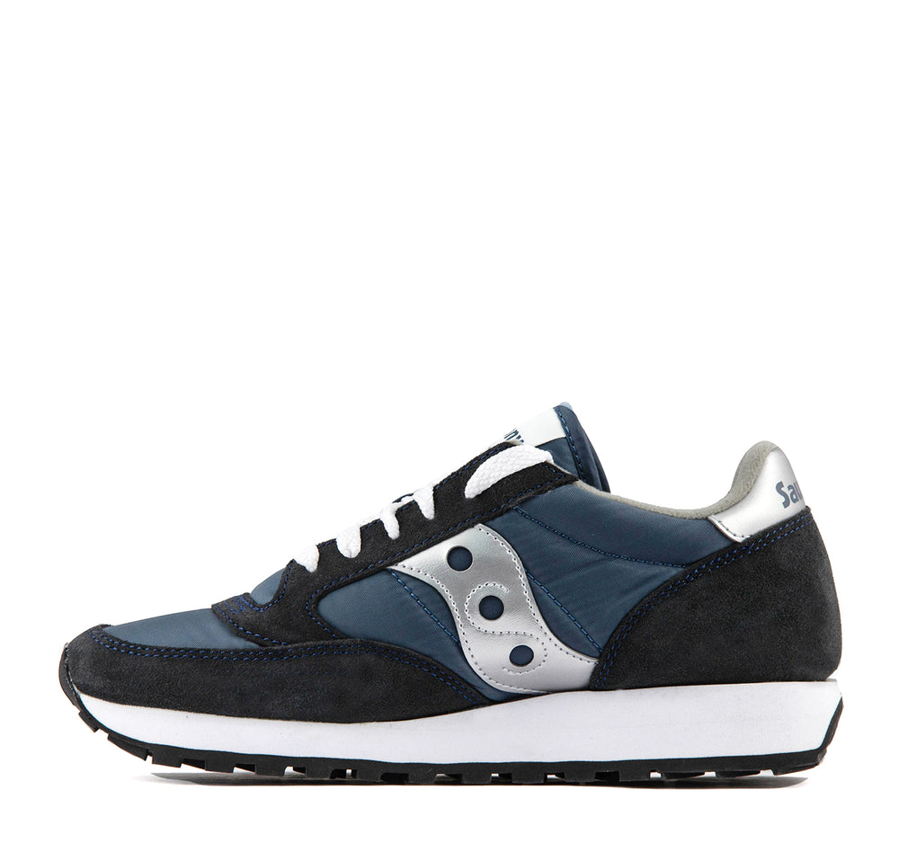 Saucony Jazz Original Sneaker in Navy and Silver - Saucony - On The EDGE