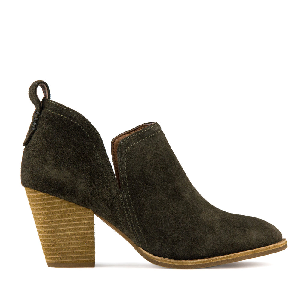 Jeffrey Campbell Rosalee Suede Boot in Dark Khaki - Jeffrey Campbell - On The EDGE
