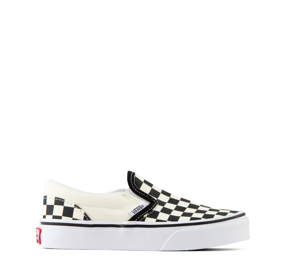 Vans Classic Slip-On Kids Sneaker Checkerboard in Black and White - Vans - On The EDGE