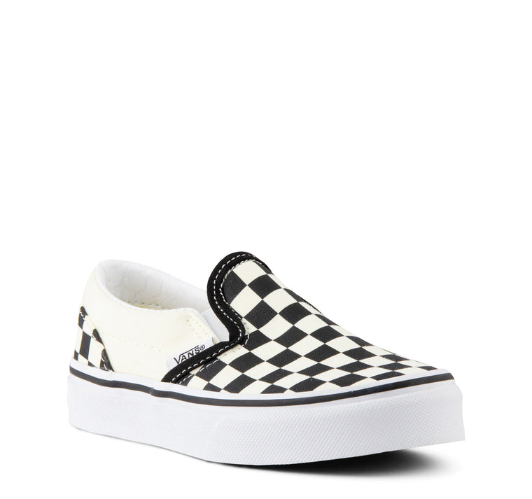 Vans Kids Classic Slip-On Checkerboard in Black and White
