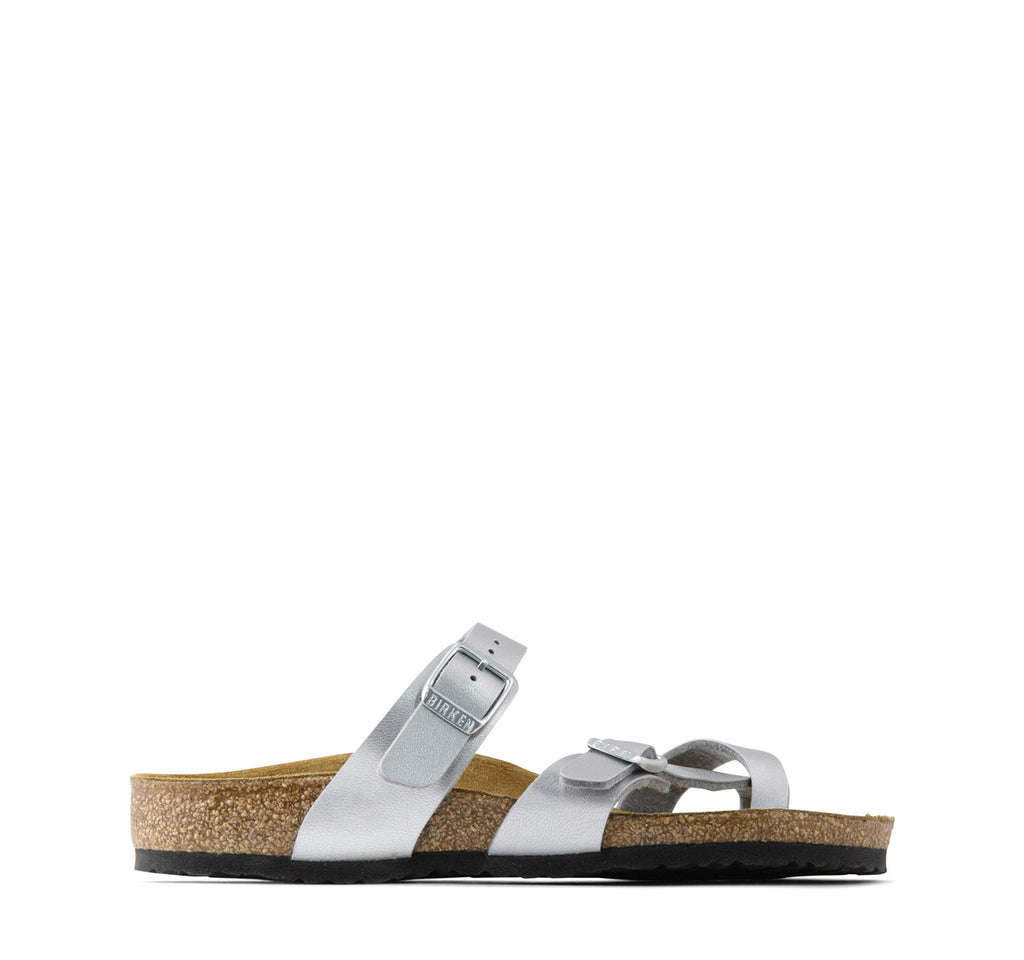 Birkenstock Mayari Birko-Flor Kids Sandal in Silver - Birkenstock - On The EDGE