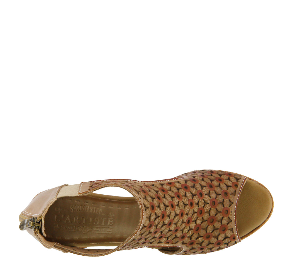 L'Artiste Hibiskus Sandal in Taupe - L'Artiste - On The EDGE