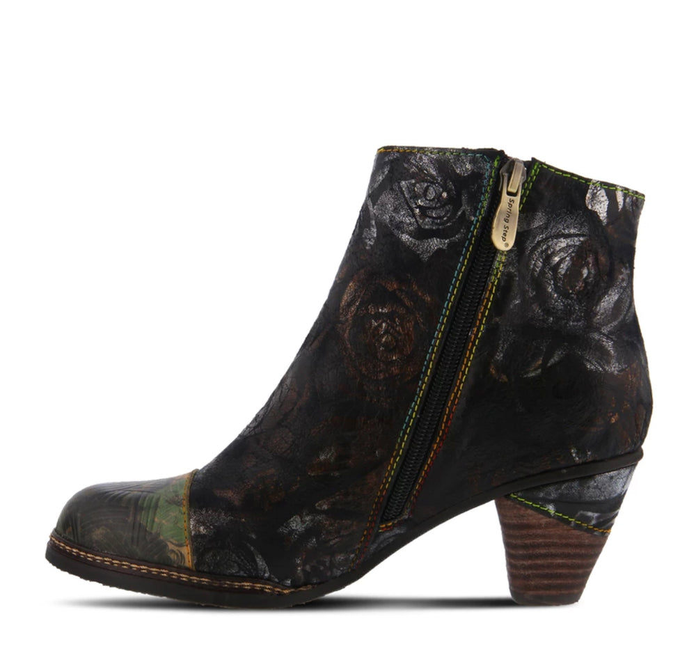 L'Artiste Waterlily Boot in Black Multi - Spring Step - On The EDGE