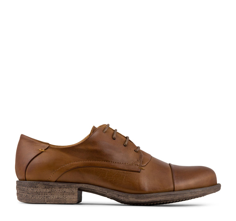 Miz Mooz Letty Women's Oxford in Brandy
