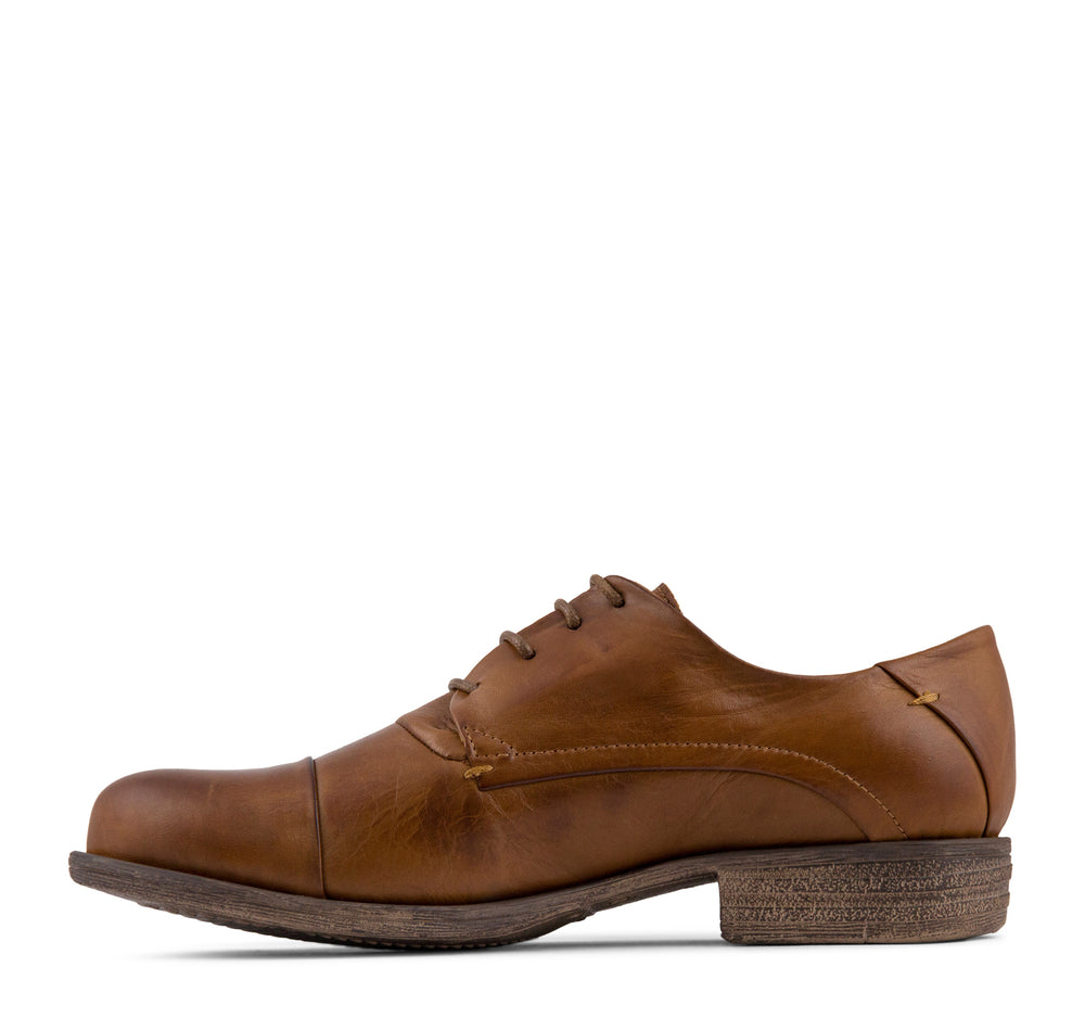 Miz Mooz Letty Women's Oxford in Brandy - Miz Mooz - On The EDGE