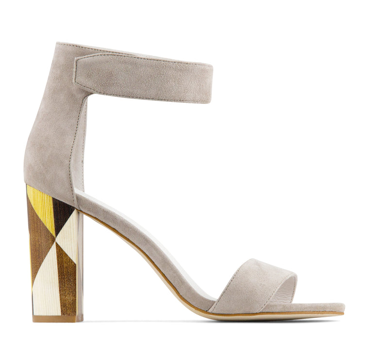 Jeffrey Campbell Lindsay Women's Ankle Strap Sandal in Taupe