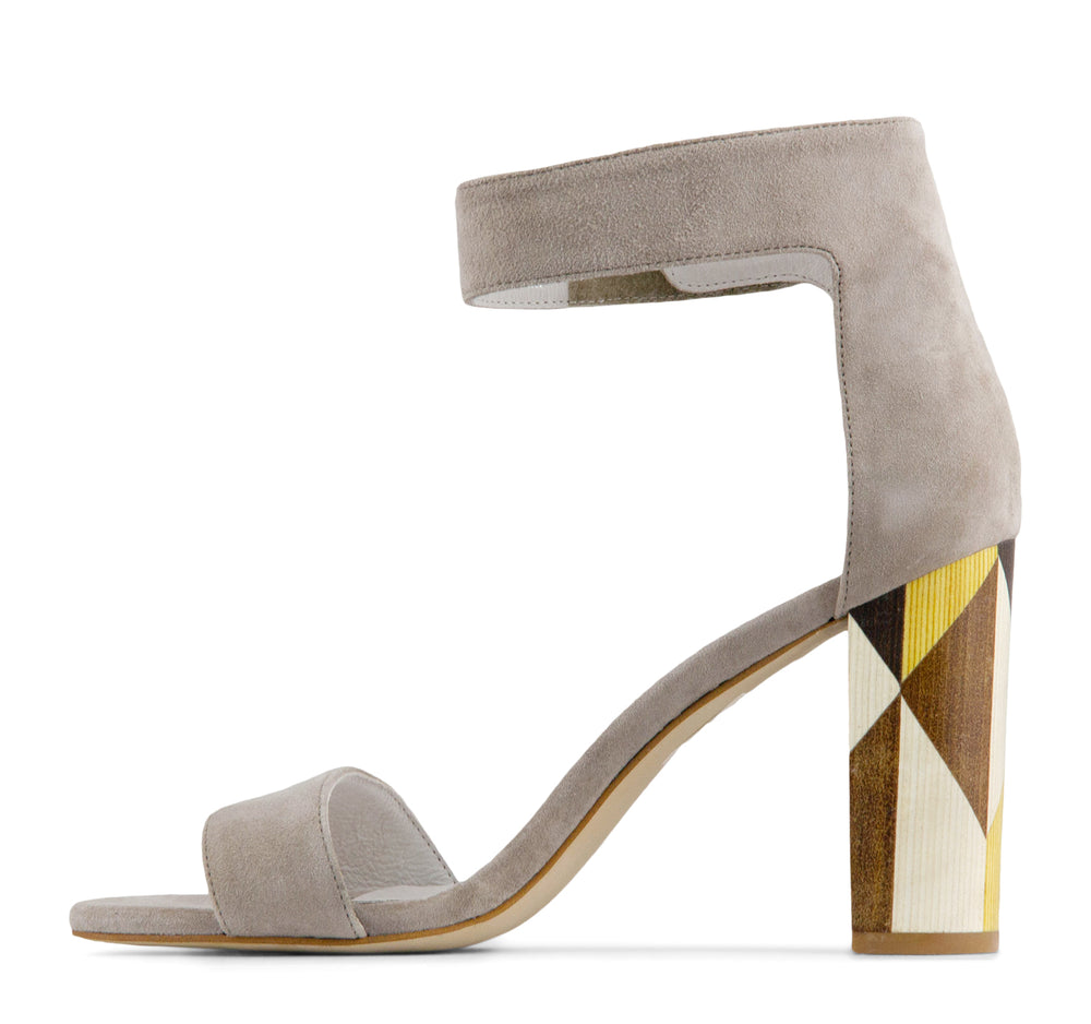 Jeffrey Campbell Lindsay Women's Ankle Strap Sandal in Taupe - Jeffrey Campbell - On The EDGE
