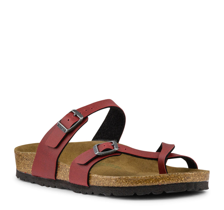 Birkenstock Mayari Vegan Birko-Flor - Bordeaux - Birkenstock - On The EDGE