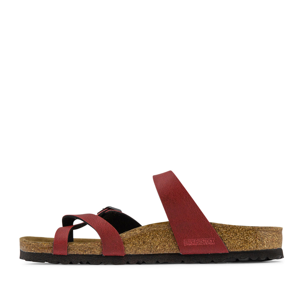 Birkenstock Mayari Vegan Birko-Flor Women's Sandal in Bordeaux - Birkenstock - On The EDGE