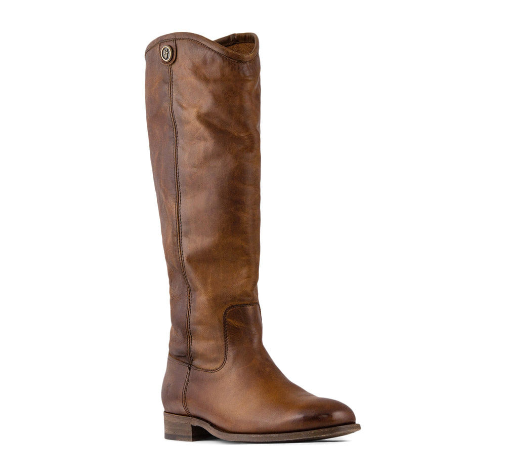 Frye Melissa Button 2 Tall Women's Boot in Cognac - The Frye Company - On The EDGE
