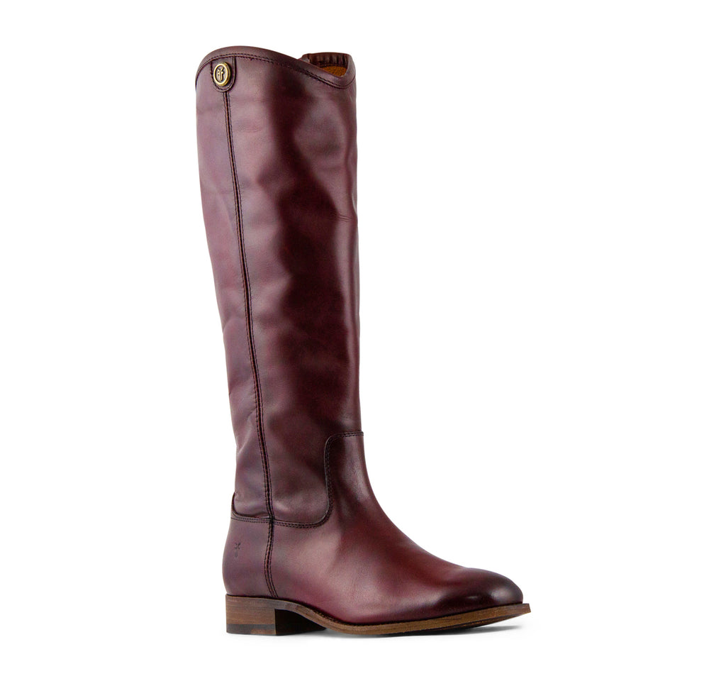 Frye Melissa Button 2 Tall Women's Boot in Wine - The Frye Company - On The EDGE