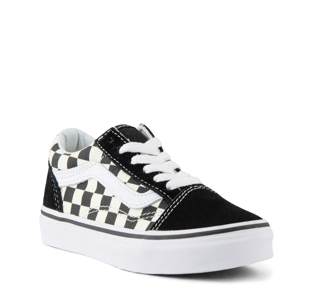 Vans Primary Check Old Skool Kids in Black and White - Vans - On The EDGE