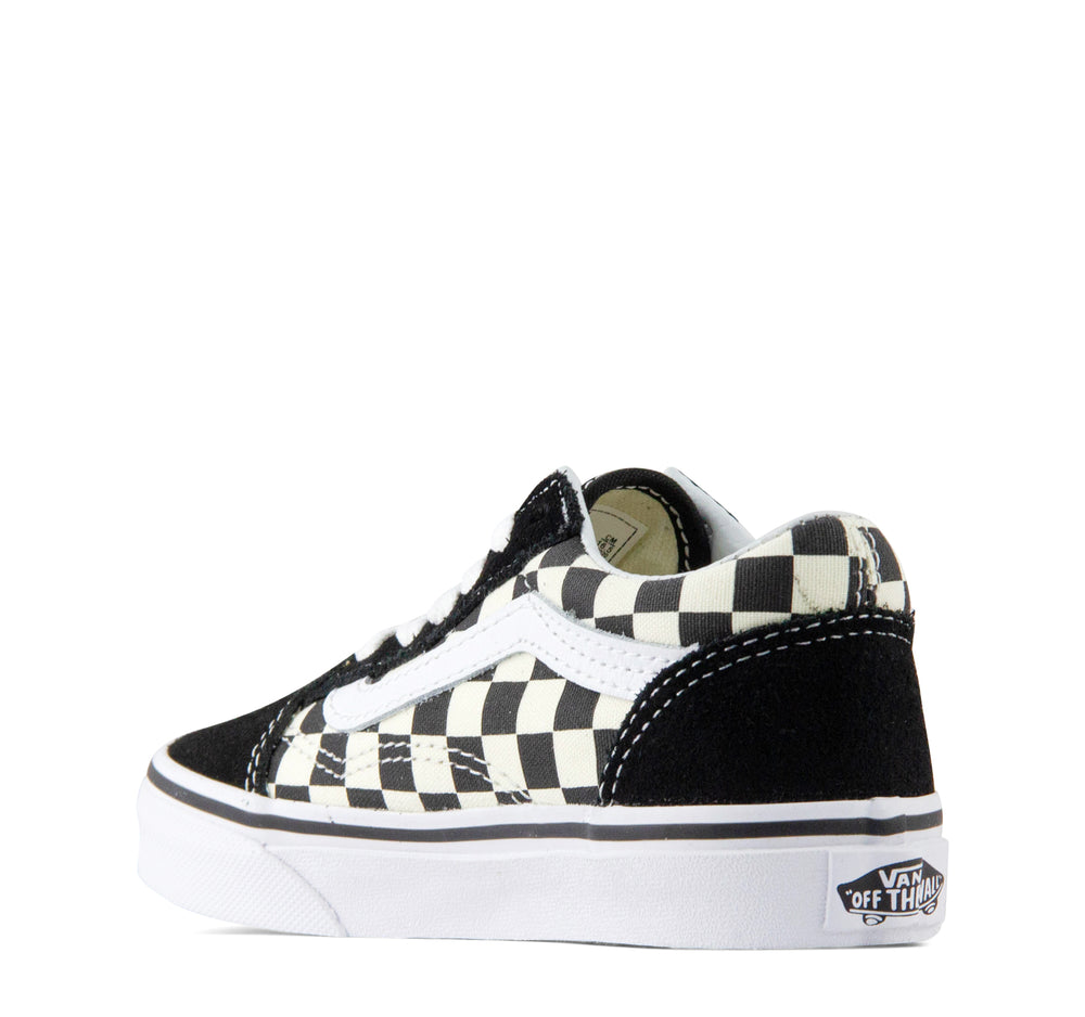 Vans Kids Primary Check Old Skool in Black and White