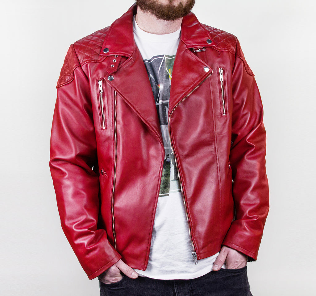 EDGE Doost Moto Jacket in Red - EDGE - On The EDGE
