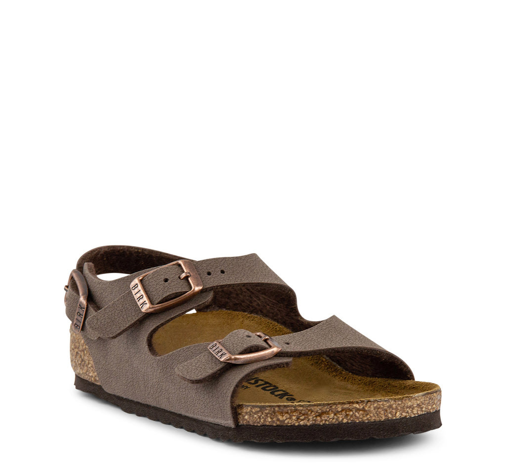Birkenstock Roma Birko-Flor Kids Sandal in Mocha - Birkenstock - On The EDGE