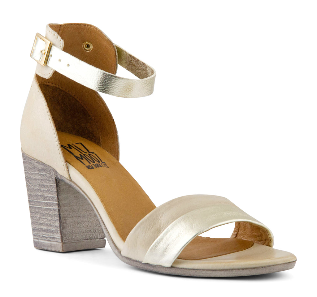 Miz Mooz Saint Women's Sandal in Cream - Miz Mooz - On The EDGE