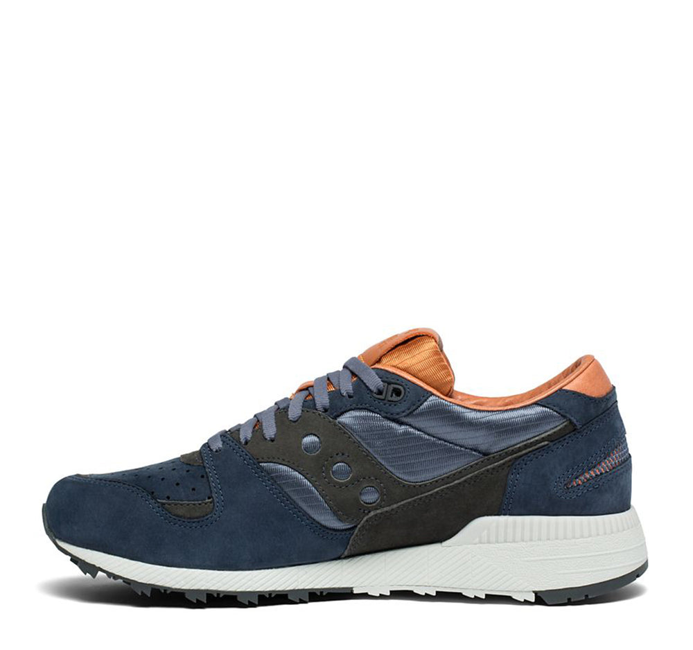 Saucony Azura Weathered in Navy and Brown - Saucony - On The EDGE