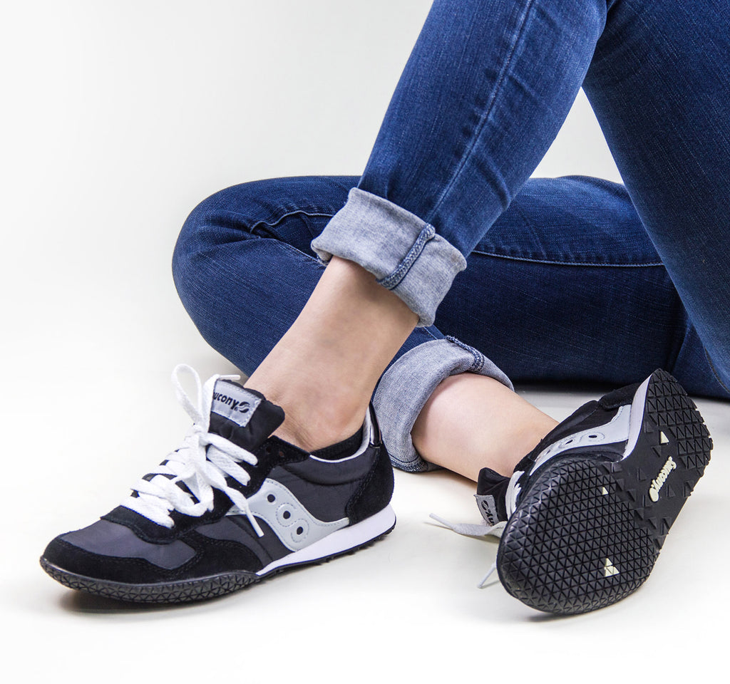 Saucony Bullet Women's Sneaker in Black and Silver