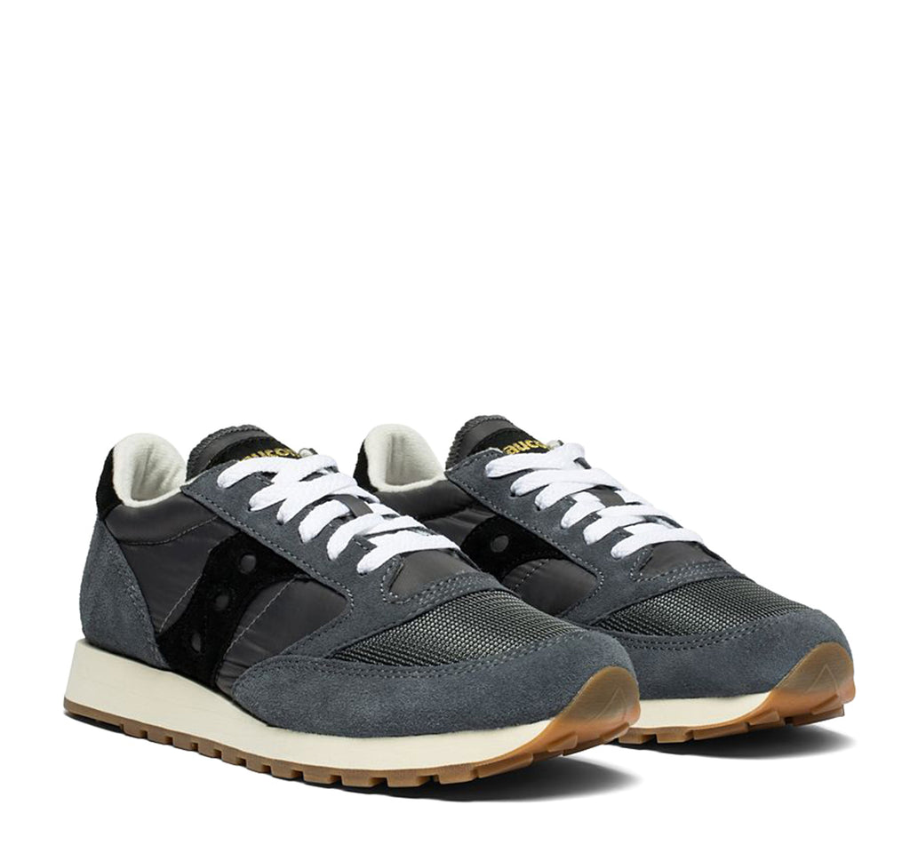 Saucony Jazz Original Vintage Sneaker in Grey and Black - Saucony - On The EDGE