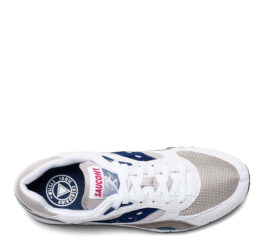 Saucony Shadow 6000 Sneaker in White, Grey and Navy - Saucony - On The EDGE