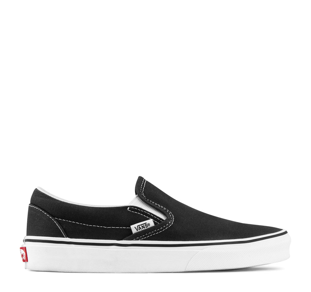 Vans Classic Slip-On Sneaker in Black and White - Vans - On The EDGE