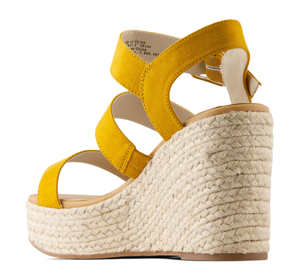 BC Footwear Snack Bar Espadrille Women's Wedge in Mustard - BC Footwear by Seychelles - On The EDGE